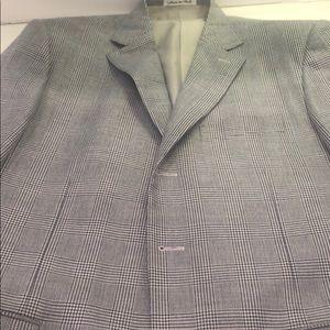 40 reg Italian sport coat blue & white clean